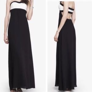 NWT Express Black Cutout Maxi Dress strapless